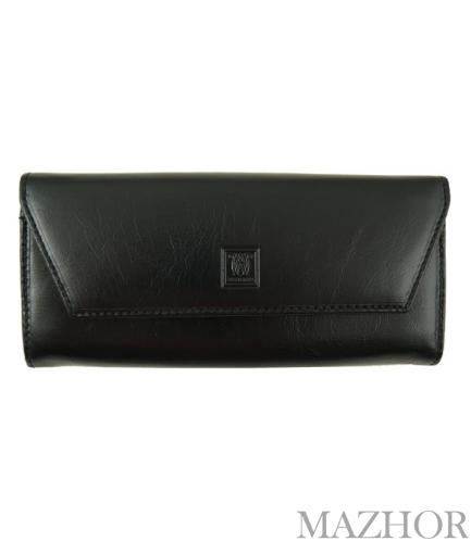 Женский кожаный кошелёк Wanlima W50040230166-black - Фото №1