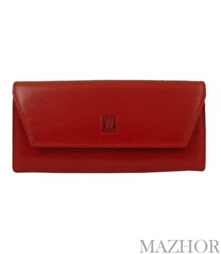 Женский кожаный кошелёк Wanlima W50040230166-red - Фото №1