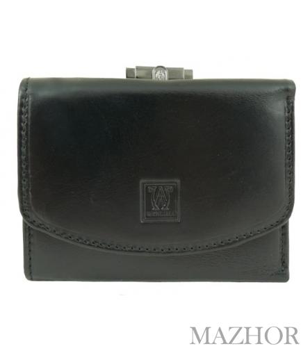 Женский кожаный кошелёк Wanlima W500432714-black - Фото №1