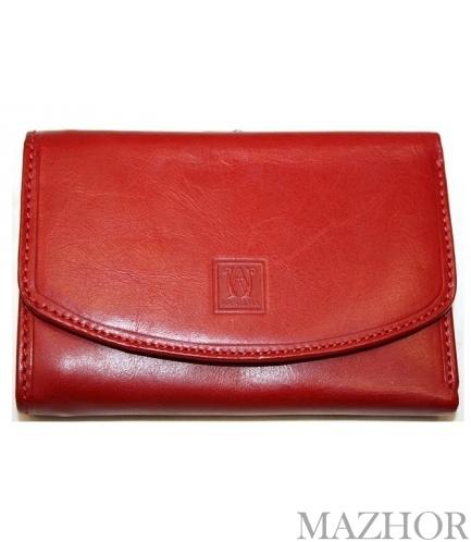 Женский кожаный кошелёк Wanlima W500432714-red - Фото №1