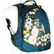 Стильный городской женский рюкзак с цветами.