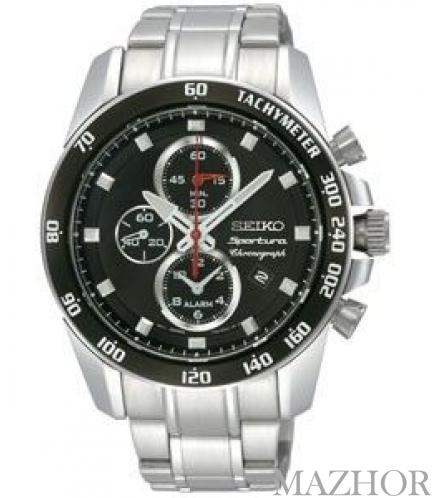 Мужские часы Seiko Sportura Alarm Chronograph SNAE69P1 - Фото №1