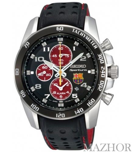 Мужские часы Seiko Alarm Chronograph SNAE75P1 - Фото №1