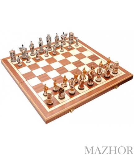 Шахматы England Intarsia 3158 - Фото №1