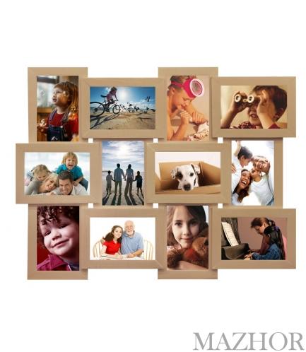 Фоторамка на 12 фотографий Яркий Беж Б-12 - Фото №1