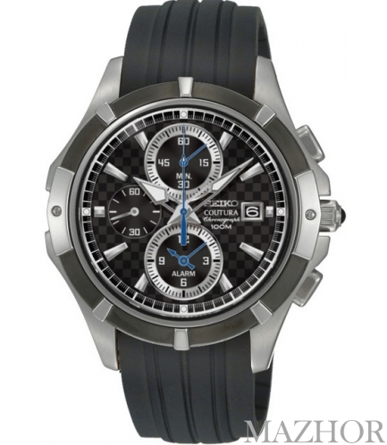 Мужские часы Seiko Coutura Alarm Chronograph SNAF13P1 - Фото №1