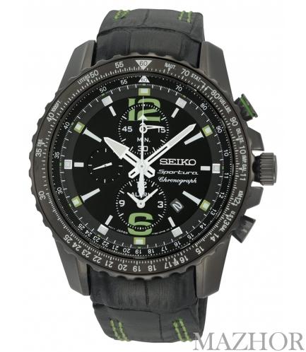 Мужские часы Seiko Sportura Alarm Chronograph SNAE97P1 - Фото №1