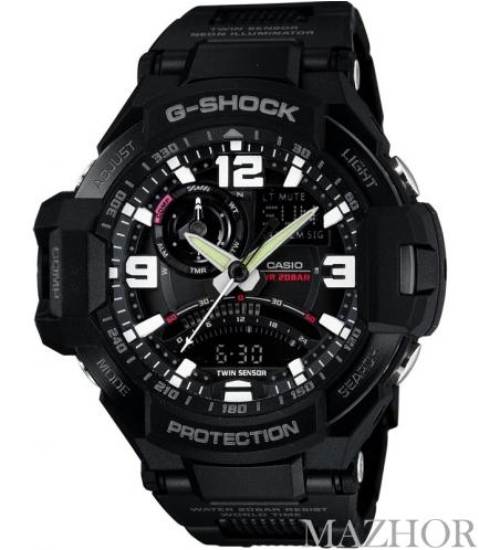 Мужские часы Casio G-Shock GA-1000FC-1AER - Фото №1