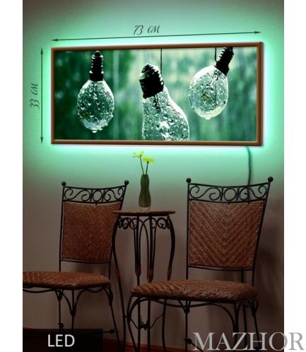 Фото: Картина с Led-подсветкой Лампочки Led(30)-22 в магазине Mazhor - Киев