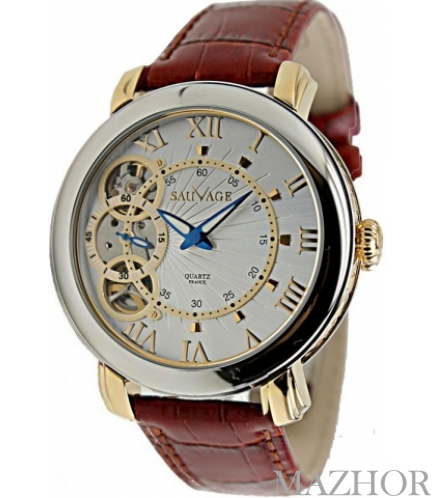 Мужские часы Sauvage SA-SP78910SG WH - Фото №1