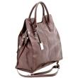 Mattioli Женская сумка коричневая азалия 102-09С1 (102-09С1 коричневая азалия).  Ваше имя.