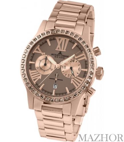 Женские часы Jacques Lemans La Passion Porto Chronograph 1-1810H - Фото №1