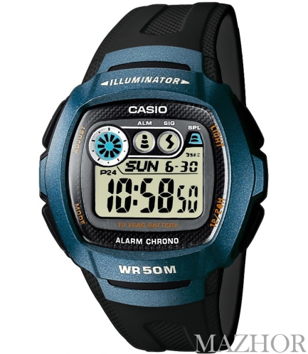 Часы Casio Standard Digital W-210-1BVEF - Фото №1
