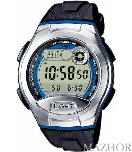 Мужские часы Casio Standard Digital W-752-2BVEF - Фото №1