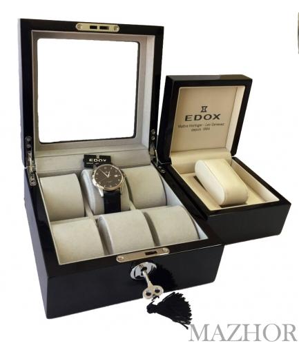 Шкатулка для часов и часы Edox WRC 70170 3 NIN - Шкатулка в подарок - Фото №1