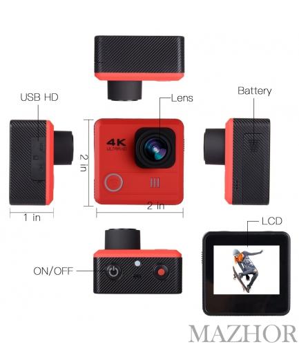 Экшн камера CS4K-red - Фото №1