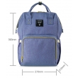Рюкзак для мамы Sunveno Diaper Bag Blue Purple NB22179.BPL - Фото №4