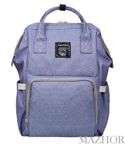 Рюкзак для мамы Sunveno Diaper Bag Blue Purple NB22179.BPL - Фото №1