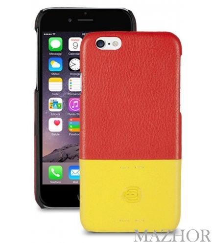 Чехол для iPhone 6 PIQUADRO PULSE/Red-Yellow AC3353P15_RG - Фото №1