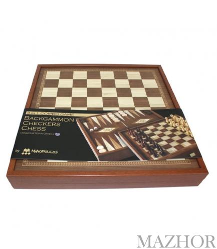 Шахматы + нарды + Шашки 3 в 1 Manopoulos 088-3601STP - Фото №1
