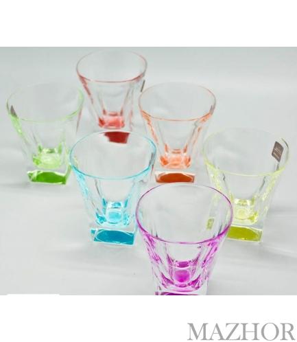 Набор 6 цветных бокалов для виски FUSION COLOUR Suggest 197-5001 - Фото №1