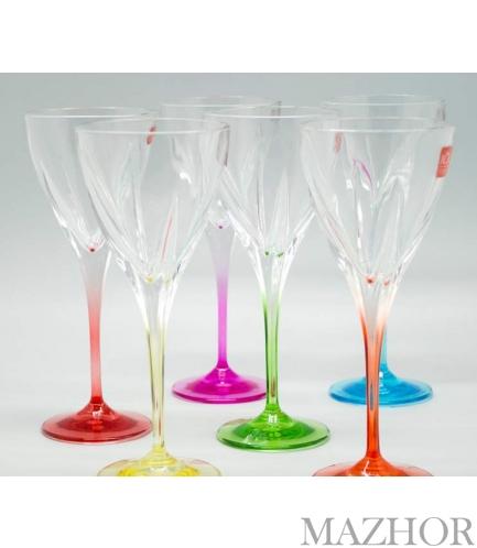Набор 6 цветных бокалов для вина FUSION COLOUR Suggest 197-5002 - Фото №1