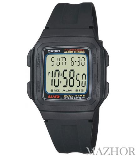 Часы Casio Standard Digital F-201W-1AEF - Фото №1